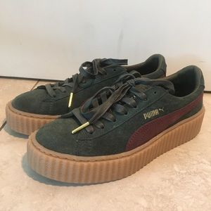 Rihanna Fenty Puma Creepers in OG color green